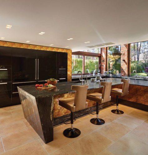 Gold & Black Kitchen