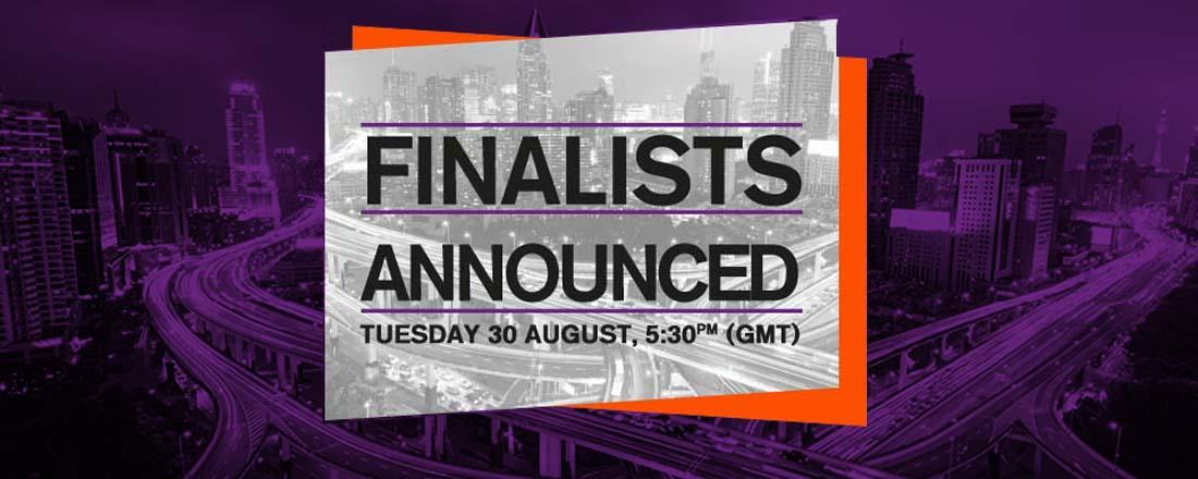 Website Banner- Finalists announced soon website copy