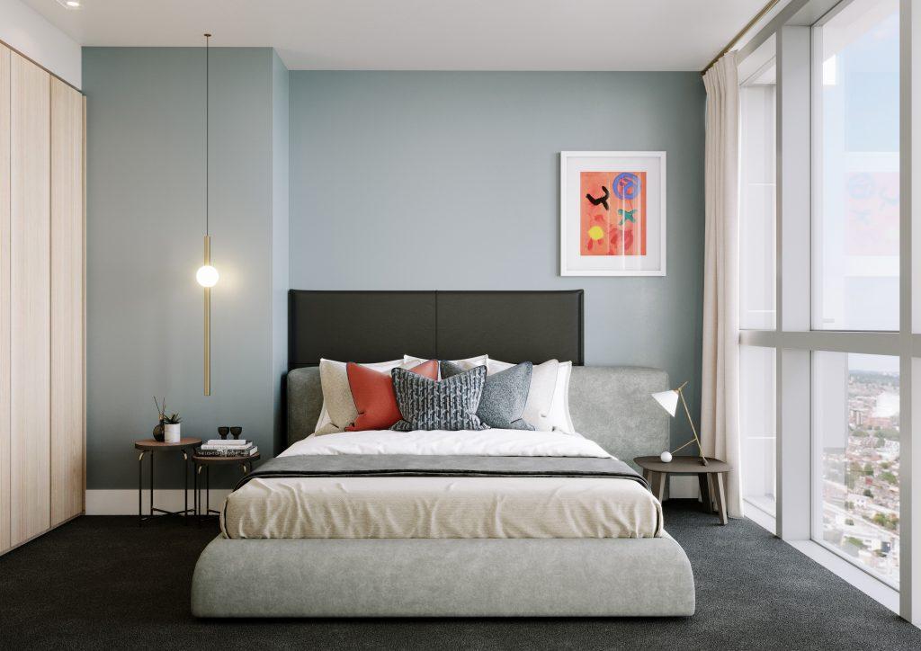 habitación con decoración italina